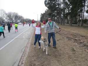 Melissa, Steve and Jake (he is the one trying to chase all the runners)