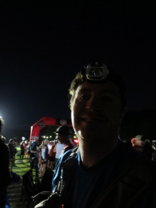 Dan in the dark, waiting to start.
