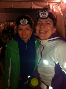 Me and Rochelle heading out for my last loop! Somehow I'm still smiling.