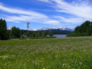 The Lake and the Tetons